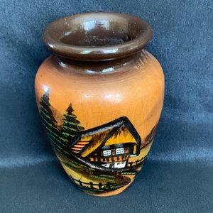 """Hand Carved Black Forest German Miniature Vase 3"""""""